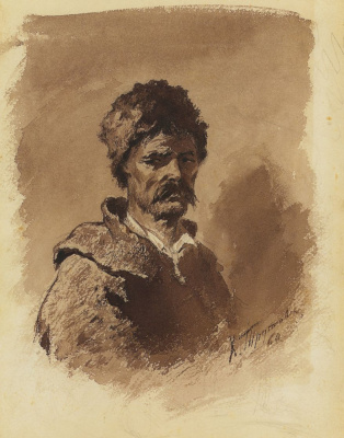 Konstantin Aleksandrovich Trutovsky. Type of the Ukrainian peasant