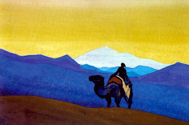 Nicholas Roerich. Desert ship (the Lonely traveler)