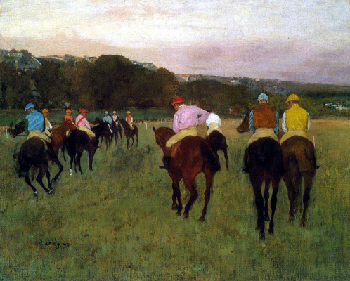Edgar Degas. Race horses in Longchamp