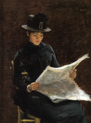 William Merritt Chase. Morning news