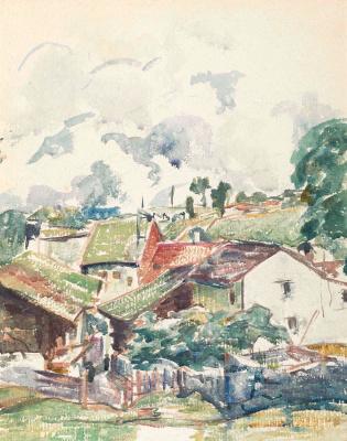 Giovanni Giacometti. The village in the mountains