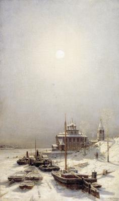 Alexey Petrovich Bogolyubov. Winter in Borisoglebsk