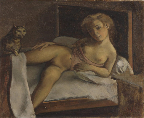Balthus (Balthasar Klossovsky de Rola). Girl with a cat
