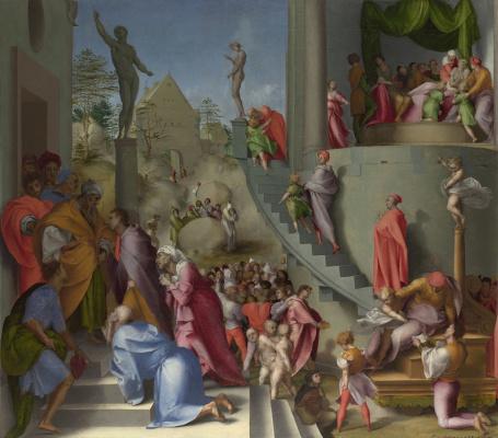 Jacopo Pontormo. Joseph and Jacob in Egypt