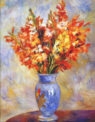 Pierre-Auguste Renoir. Gladiolus