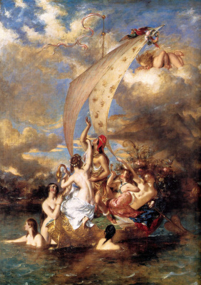 Etty William. Youth on the prow and Pleasure at the helm