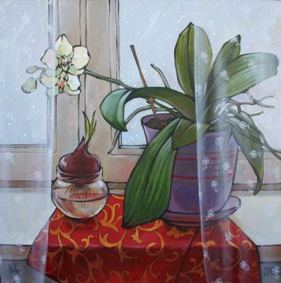 Dina Dmitrievna Kalinkina. Behind the transparent curtains