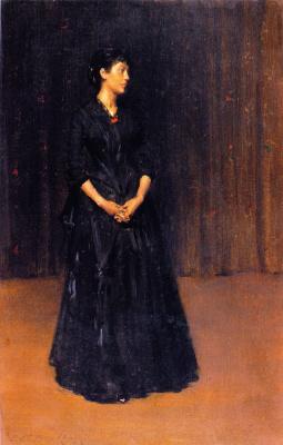 Уильям Меррит Чейз. Женщина в черном платье