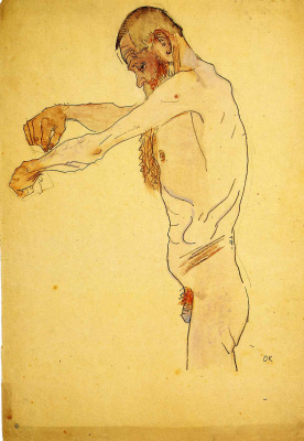 Oskar Kokoschka. A man without clothes