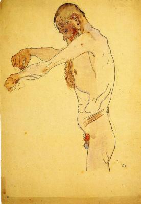 Oskar Kokoschka. Male without clothes