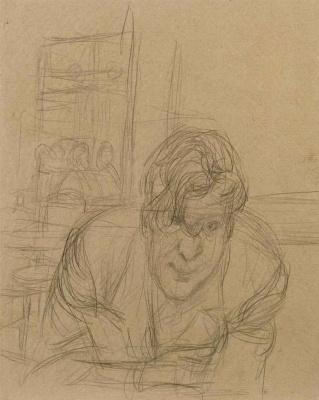 Альберто Джакометти. Портрет неизвестного мужчины, наклонившегося вперед