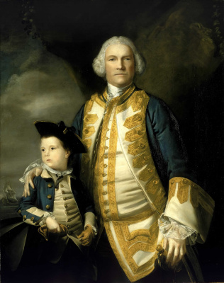 Joshua Reynolds. Portrait of Francis Holburn with his son