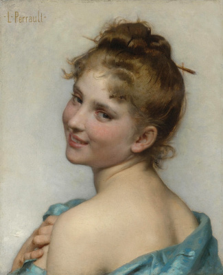 Leon Basile Perrot France 1832-1908. Young beauty.