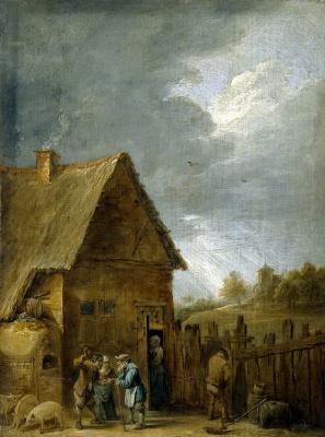 Давид Тенирс Младший. Двор крестьянского дома