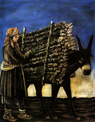 Niko Pirosmani (Pirosmanashvili). Boy - seller of firewood