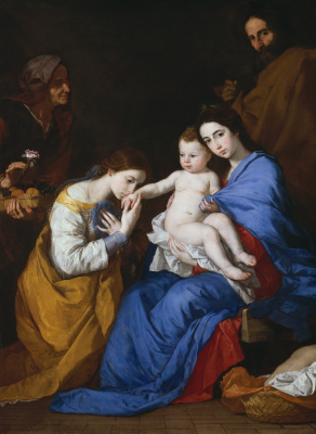Хосе де Рибера. Мистическое обручение св. Екатерины Александрийской