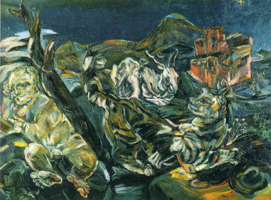 Oskar Kokoschka. Bodegon with rabbit