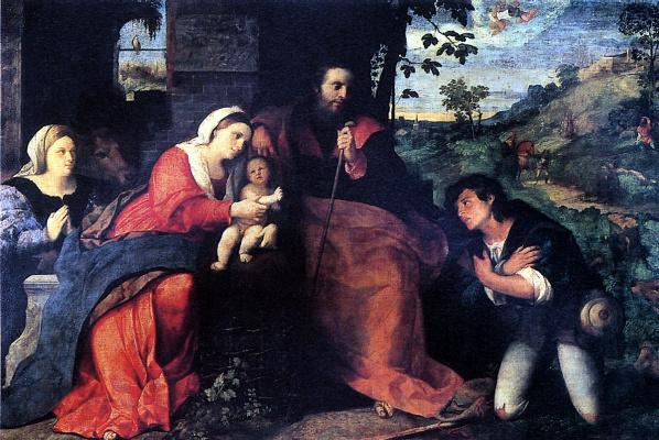 Негретти Якопо. Поклонение пастухов с донатором