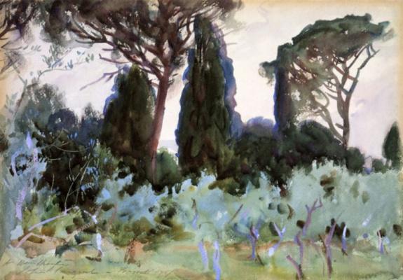 John Singer Sargent. Landscape near Florence