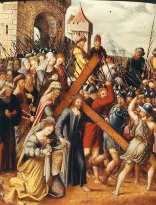 Катарина ван Хемессен. Иисус встречает Веронику