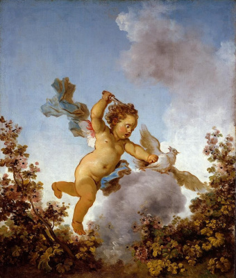 "Jean Honore Fragonard. The love avenger. From series of paintings ""Love adventure"""