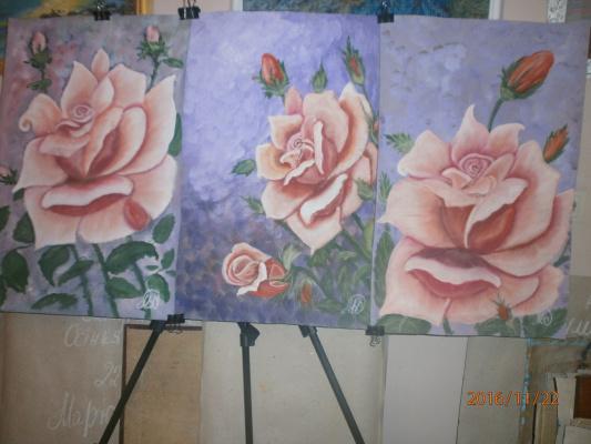 Marianna Dmitrievna Soltuk. Triptych Roses