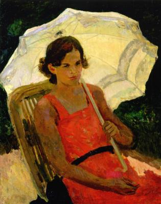 Sergey Vasilyevich Gerasimov. Girl with umbrella