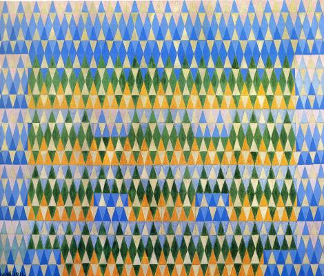 Giacomo Balla. Blue and yellow color