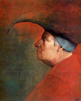 Хосе Мануэль Гомес. Профиль мужчины в красном