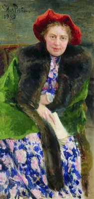 Ilya Efimovich Repin. Portrait Of Natalia Borisovna Nordman-Severova