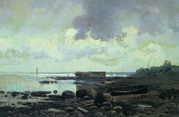 Fedor Alexandrovich Vasilyev. The shore of Lake Ladoga. Cloudy day
