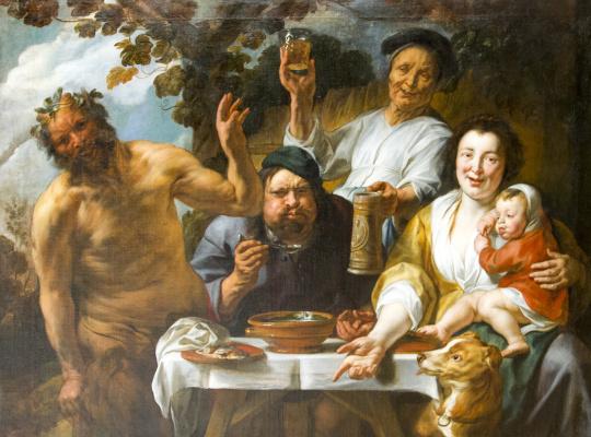 Якоб Йорданс. Dinner people