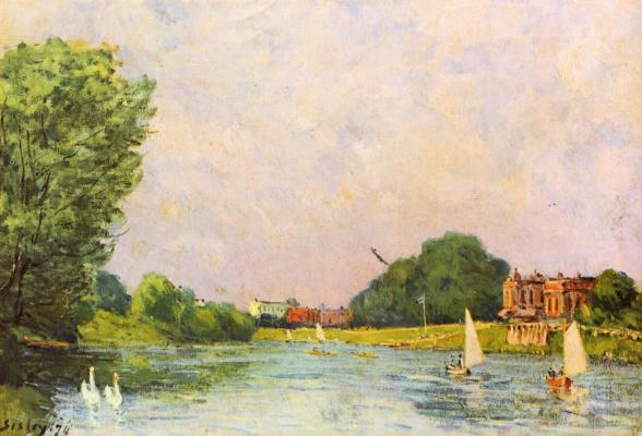 Alfred Sisley. Thames near HAMPTON Court