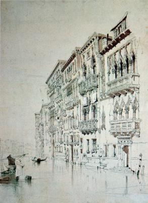 John Ruskin. Palazzo Contarini Fasan, Venice