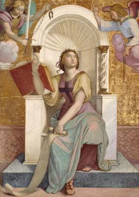 Johann Friedrich Overbeck. The frescoes of the villa Massimo, Tasso Hall: Allegory of Jerusalem, liberated by the Crusaders
