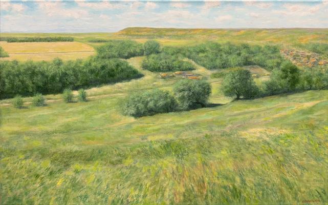 Albert Safiullin. Rural landscape. Old Baryshevo.