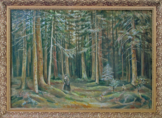 "Olesya Rapotkin. Copy I.Shishkin ""In the forest of Countess Mordvinova"""