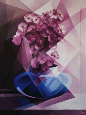 Vasily Krotkov. Purple. Post-Cubo-Futurism