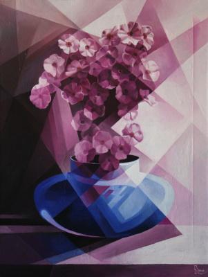 Vasily Krotkov. Purple. Post-Cubo-Futurism