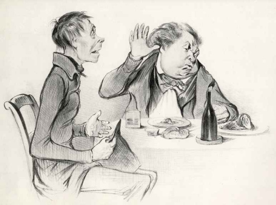 Honore Daumier. I've never seen deaths from hunger!