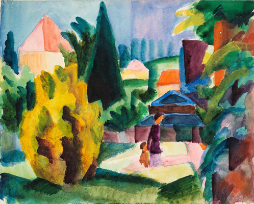 August Macke. In the Palace Garden at Oberhofen