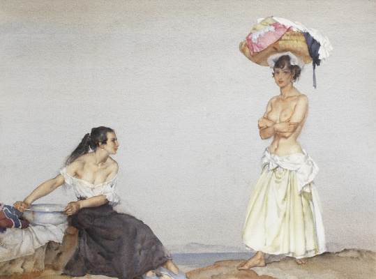 William Russell Flint 1880 - 1969 Scotland. Rose and Maria.