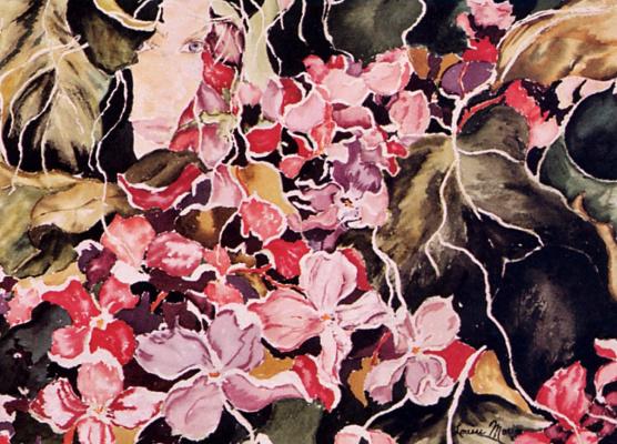 Луиза Морин. Розовые цветы
