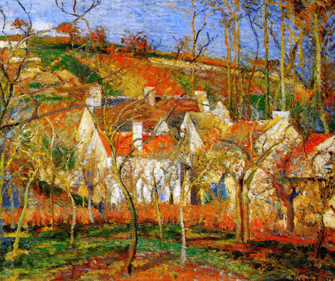 Camille Pissarro. Red roof
