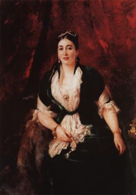 Konstantin Makovsky. Portrait widow of E. S. Rastorgueva
