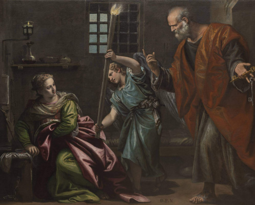 Paolo Veronese. Saint Peter visits Saint Agatha in prison