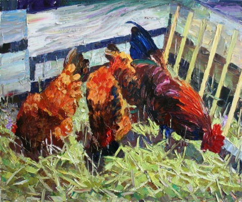 Михаил Рудник. Chickens No. 20