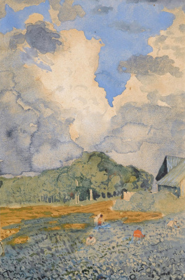 Konstantin Andreevich Somov. After the rain.1896