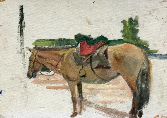 "Vasily Fadeevich Demin. Study ""Horse"""