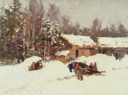 Konstantin Korovin. Winter landscape